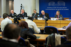 Annual Press Conference of the European Court of Human Rights.Conférence de presse annuelle de la Cour européenne des Droits de l'Homme.